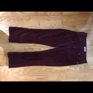 Madewell velvet Cali Demi boot cut pants